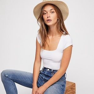 Free People Fair and Square Neck Bodysuit